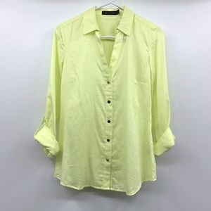 The Limited Yellow Long Sleeve Button Down Shirt